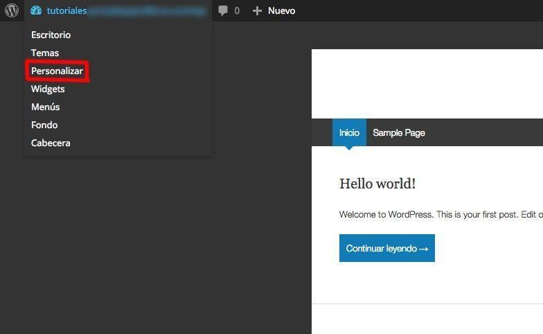 personalizar-wordpress