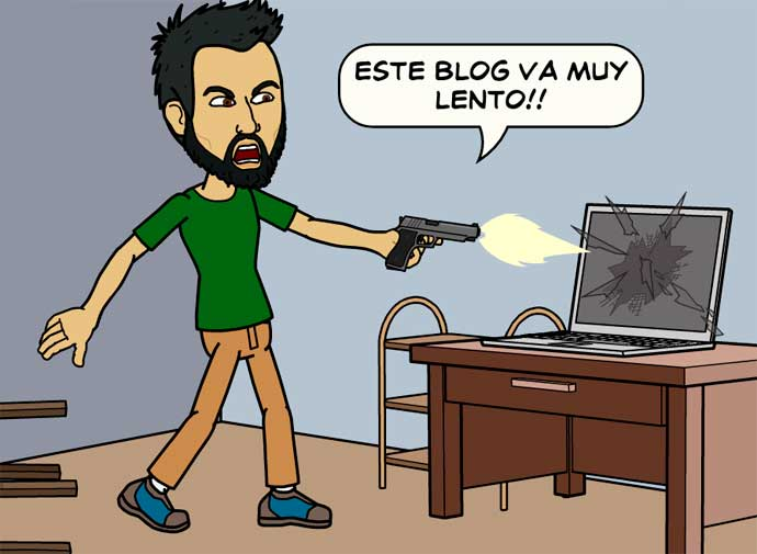 mi blog va muy lento