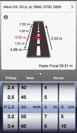 dof calculator app
