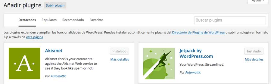 instalar un plugin zip en wordpress