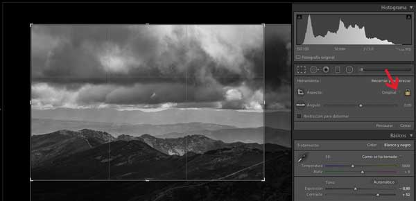 recortar fotos en lightroom