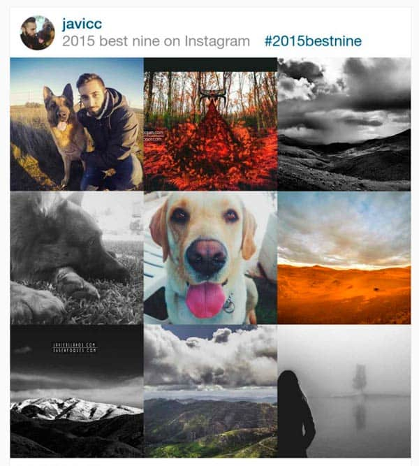 2015bestnine instagram
