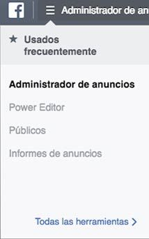 donde esta power editor en facebook