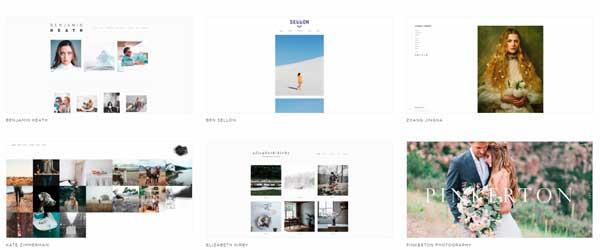 páginas web para fotógrafos