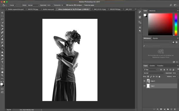 técnica para fusionar dos fotografías