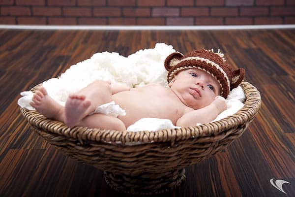 sesión de fotos a un bebé