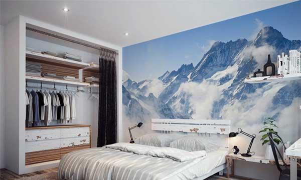 foto mural en la habitación