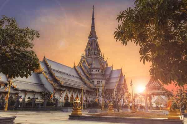 fotografía de un templo en Thailandia