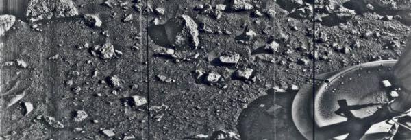La primera fotografía de Marte tomada por la sonda Viking 1