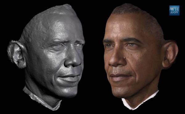 fotografía en 3d tomada a Barack Obama