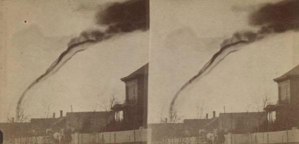 foto de un tornado por f.n. Robinson