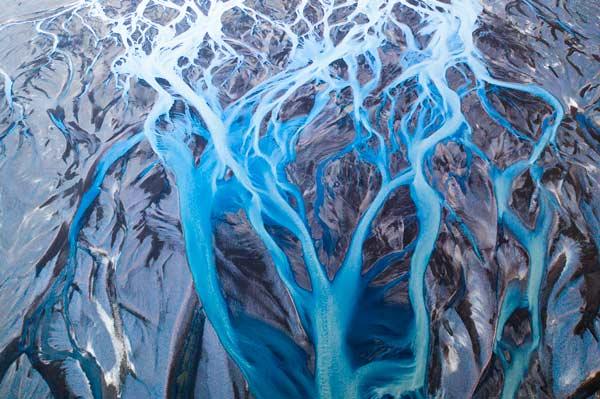 fotografía abstracta hecha con drone